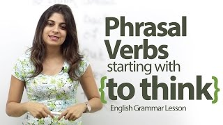Phrasal verbs starting with -