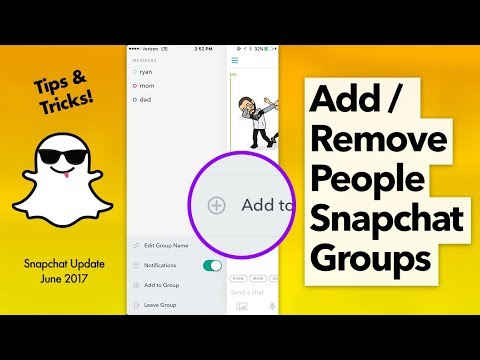 Add/Remove People Snapchat Groups