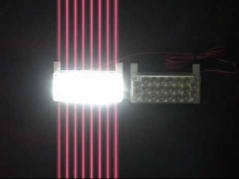 22 HIGH POWER  LED FLASH STROBE LIGHT 12V WHITE
