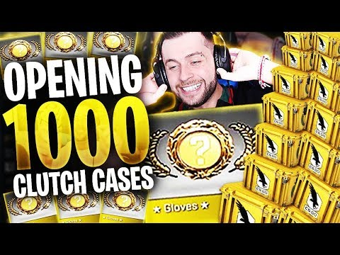 CS:GO 1000 x CLUTCH CASE - GLOVE UNBOXING *Not Clickbait*