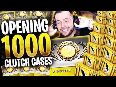 CS:GO 1000 x CLUTCH CASE - GLOVE UNBOXING *Not Clickbait*