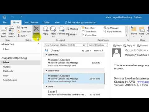 How to delete emails in Outlook
