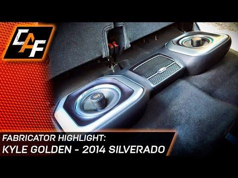 Kyle Golden's 14 Silverado - Underseat Subwoofer Box, Door Pods, A Pillars
