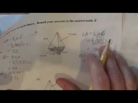 Surface area of a triangular pyramid Kutasoftware #8