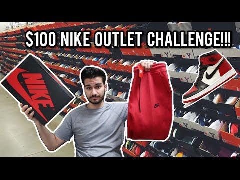 $100 Nike Outlet Challenge!!! Heat Jordans, Techfleece, Samples, and More!!!