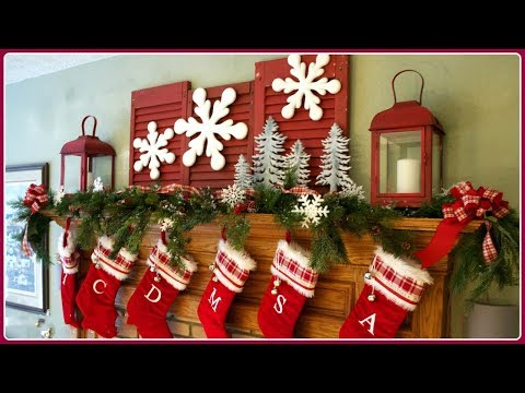 2017 Christmas Mantel Decorations 2