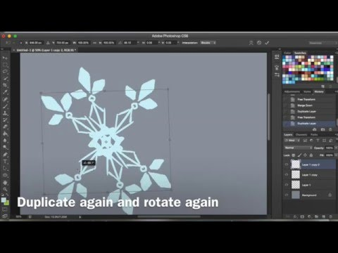How to make easy snowflakes with Photoshop CS6