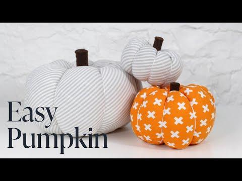 DIY: Easy Fabric Pumpkin Tutorial