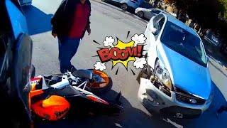 MOTORCYCLE CRASHES and MISHAPS 🔥 ROAD RAGE \ MIRROR SMASHING! [Ep #27]