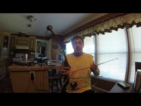 Bow fishing reel and bow setup