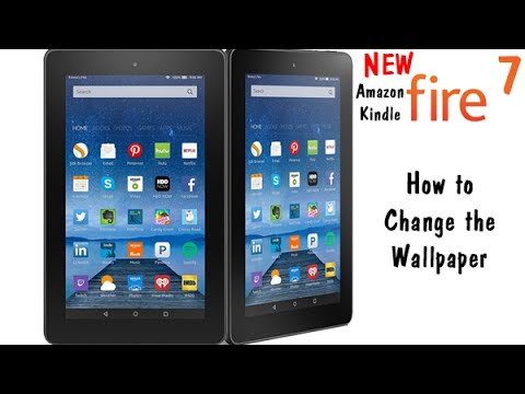 Fire 7 - How to Change the Wallpaper​​​ | H2TechVideos​​​