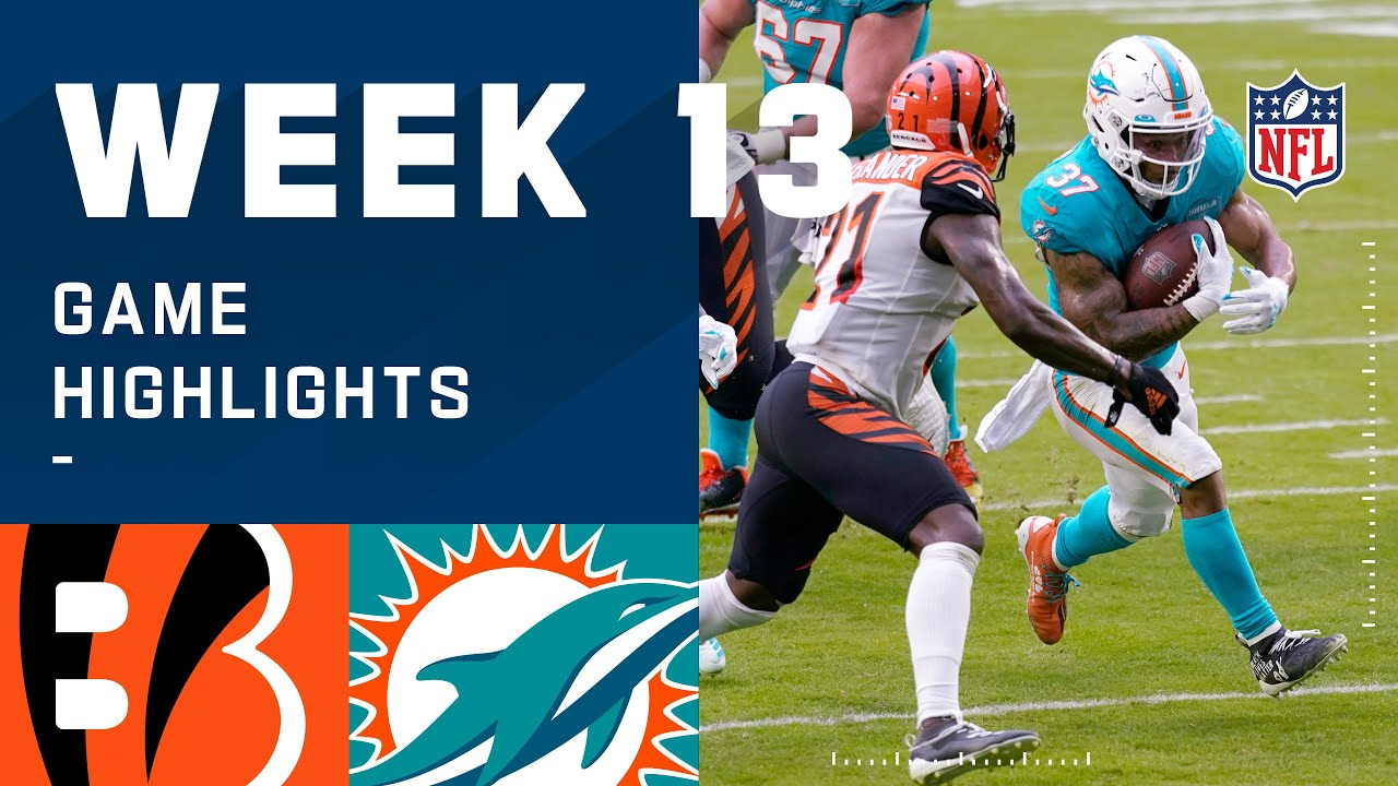 Bengals vs. Dolphins Week 13 Highlights | NFL 2020