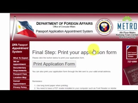 How to get DFA Passport Appointment Online (2016)
