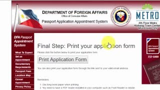 How To Get Dfa Passport Appointment Online 2016