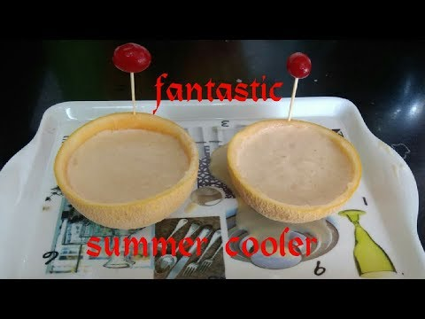 Muskmelon milkshake | summer cooler | mulampalam juice | cantaloupe