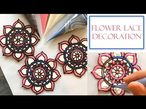 How to make Lace Chocolate flower Decorations | Multi-Color Design