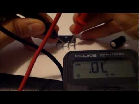 How to test capacitors, resistors, ICs, transistors, resistors, diodes, ir, rectifier with meter