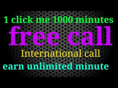 Free international call 1000 minutes