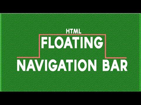 Html tutorial - Floating Navigation Bar