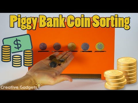 How to make Piggy Bank Coin Sorting