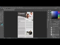 How to make Brochure in Photoshop cc