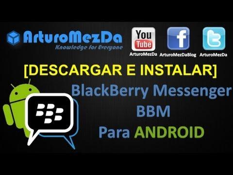 ▶ Descargar e Instalar BlackBerry Messenger para ANDROID BBM GRATIS