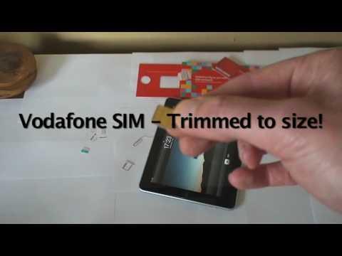Vodafone UK SIM Card In 3G iPad