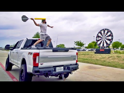 Giant Darts Battle | Dude Perfect