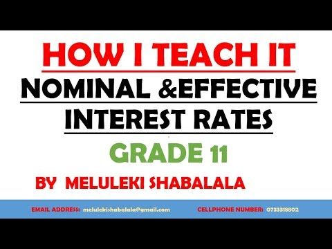 EXCEL!!!! GRADE 11 MAKE NOMINAL AND EFFECTIVE INTEREST RATE EASY MA