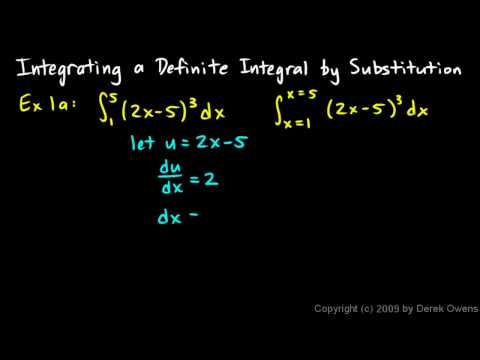 Calculus 5.7b - Integrating a Definite Integral by Substitution