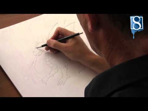 How to Draw a Dragon step-by-step by Mark Bergin