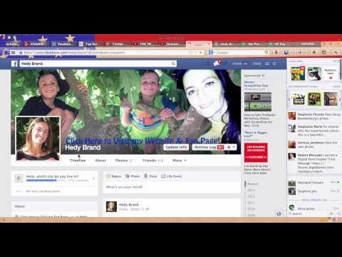 Ajouter un lien Cliquable sur Facebook | Page de Profile Lien Site Web et Facebook Fan Page