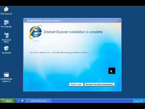 Download internet explorers 6,7,8 installable and portables.