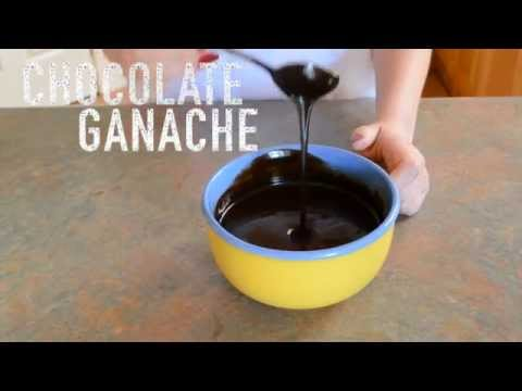 CHOCOLATE GANACHE: Made in 2 minutes. Simple and Easy. Perfect Cake Filling