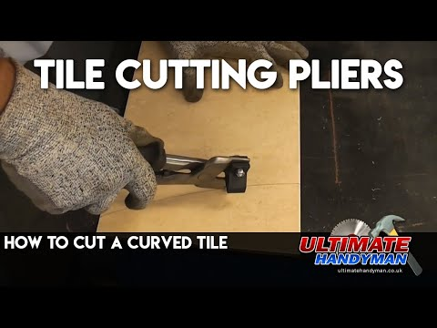 How to cut a curved tile | tile cutting pliers