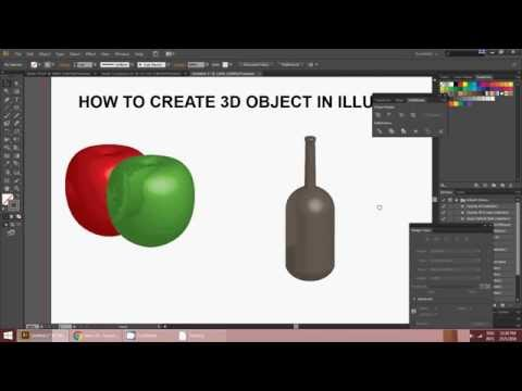HOW TO CREATE 3D OBJECT IN ILLUSTRATOR ( CS6) EASY