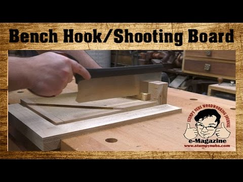 Get AMAZINGLY PRECISE CUTS from this new woodworking bench hook / shooting board design!