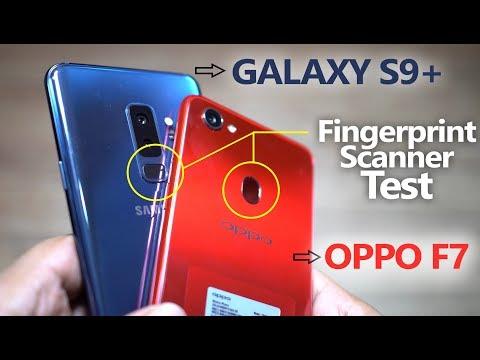 OPPO F7 vs GALAXY S9 PLUS - Fingerprint Scanner 🔥Speed Test!🔥
