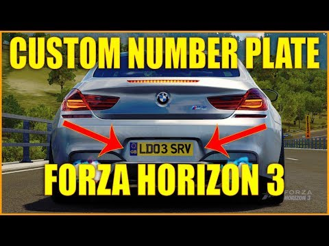 Custom Number Plate in Forza Horizon 3 2017