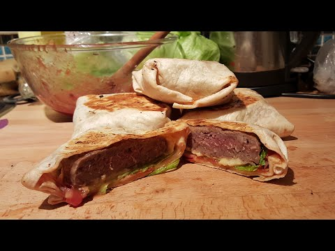 How to Make Burgers with Tortilla Wraps