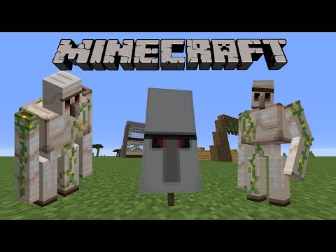 How to make an Iron Golem Banner in Minecraft!!