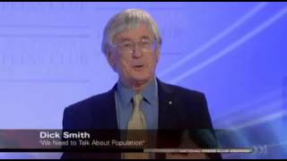 Dick Smith talks on the pitfalls of endless population growth