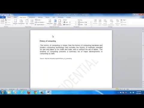 How to Add Watermarks in Word