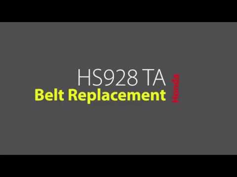 HS928 TA Belt Replacement