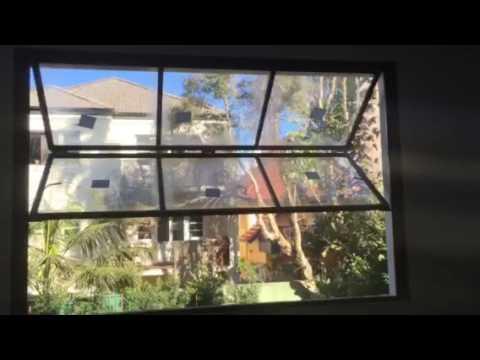 Minimal steel frame 5m high window (by Vincenzo) Bondi NSW