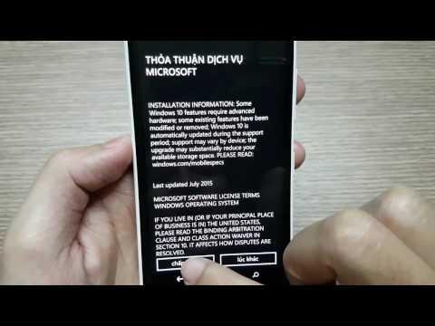 BacBa - Lumia cập nhật lên Windows phone 10 (update Windows phone 10) cho tất cả dòng máy