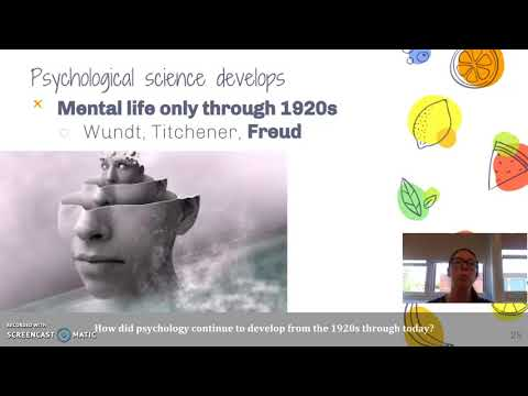 Unit 1: Psychological Science Develops