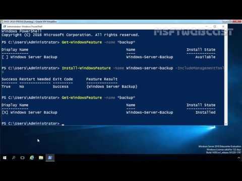 33. How To Backup Windows Server 2016 using Windows Server Backup