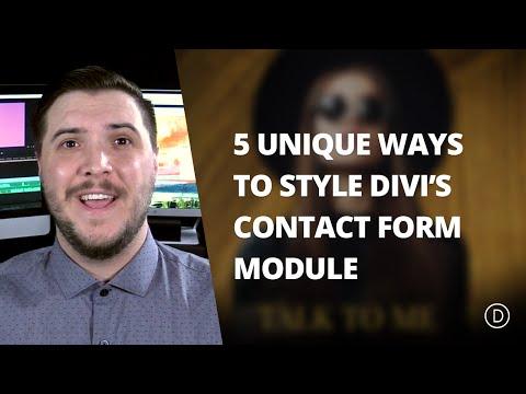 5 Unique Ways to Style Divi's Contact Form Module