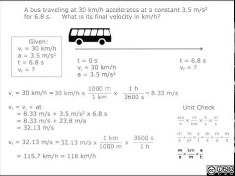 2.3 Accelerated Motion - Practice Q 6